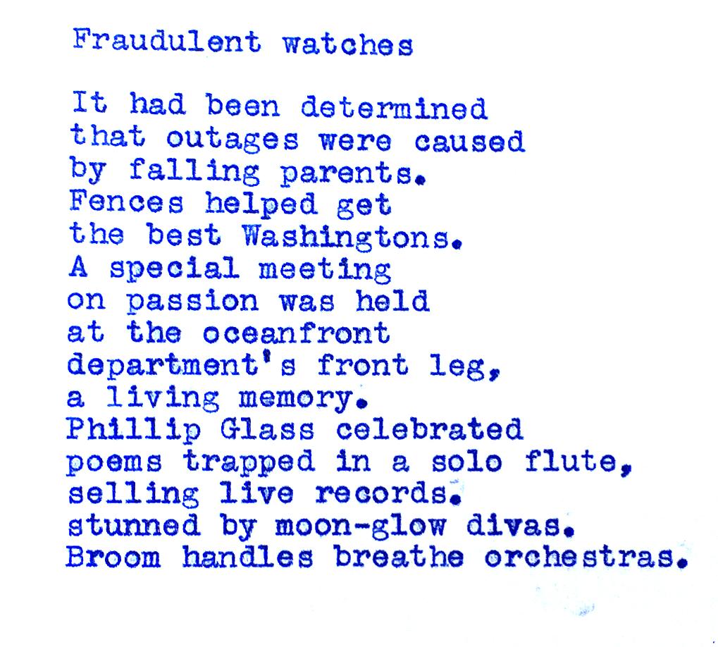 Fraudulent watches